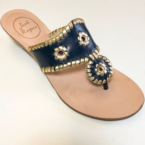 Navy and Gold Jack Rogers